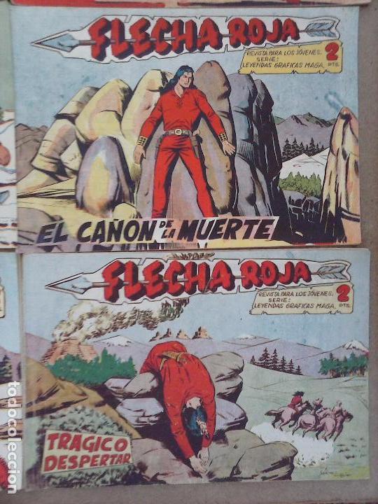 Tebeos: FLECHA ROJA ORIGINAL COMPLETA 1 AL 79 - 1962 MAGA - EXCELENTE ESTADO, VER PORTADAS - Foto 28 - 103978683