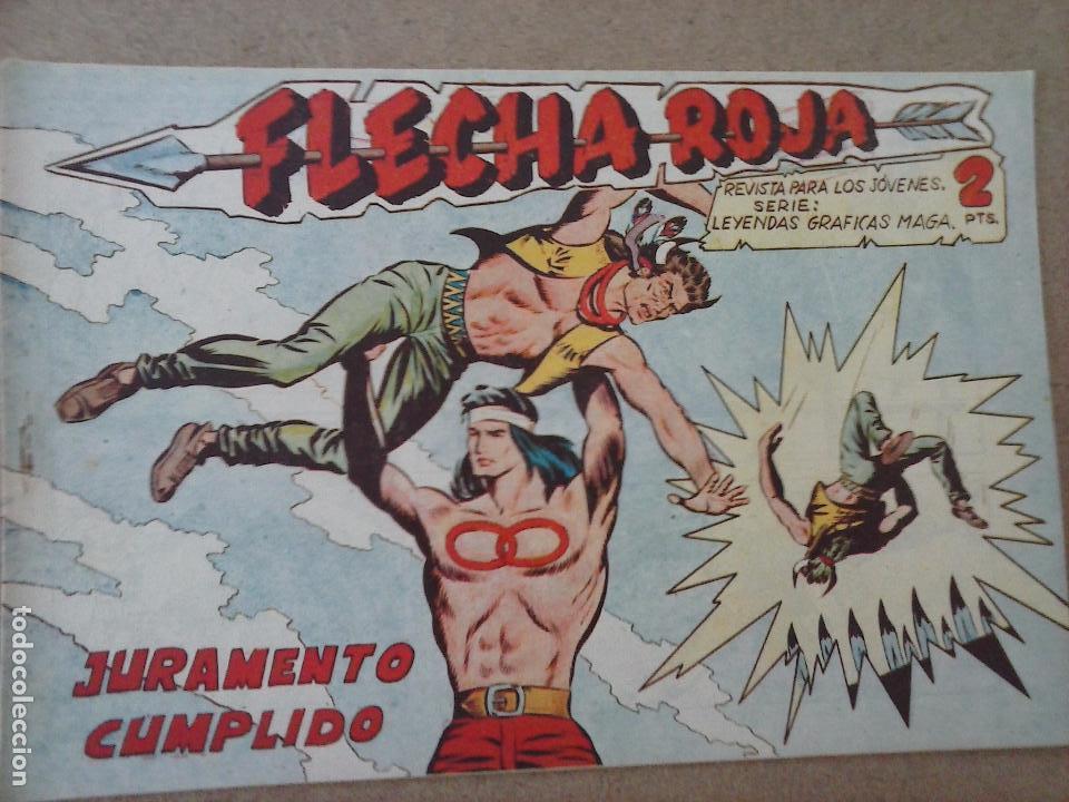 Tebeos: FLECHA ROJA ORIGINAL COMPLETA 1 AL 79 - 1962 MAGA - EXCELENTE ESTADO, VER PORTADAS - Foto 32 - 103978683