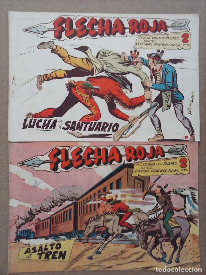 Tebeos: FLECHA ROJA ORIGINAL COMPLETA 1 AL 79 - 1962 MAGA - EXCELENTE ESTADO, VER PORTADAS - Foto 33 - 103978683