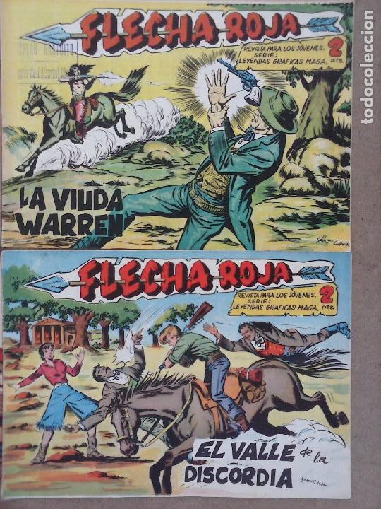 Tebeos: FLECHA ROJA ORIGINAL COMPLETA 1 AL 79 - 1962 MAGA - EXCELENTE ESTADO, VER PORTADAS - Foto 35 - 103978683