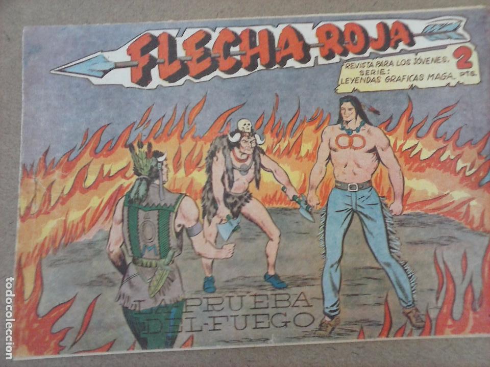 Tebeos: FLECHA ROJA ORIGINAL COMPLETA 1 AL 79 - 1962 MAGA - EXCELENTE ESTADO, VER PORTADAS - Foto 36 - 103978683