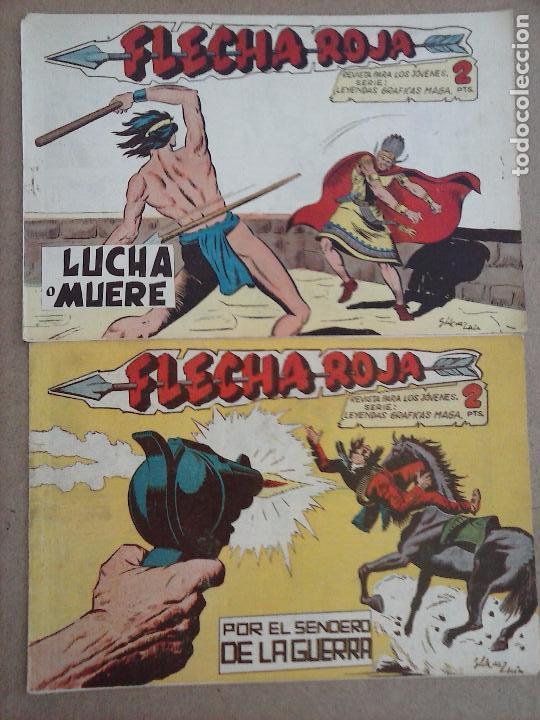 Tebeos: FLECHA ROJA ORIGINAL COMPLETA 1 AL 79 - 1962 MAGA - EXCELENTE ESTADO, VER PORTADAS - Foto 38 - 103978683