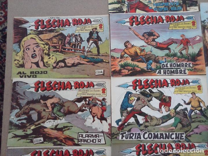 Tebeos: FLECHA ROJA ORIGINAL COMPLETA 1 AL 79 - 1962 MAGA - EXCELENTE ESTADO, VER PORTADAS - Foto 40 - 103978683