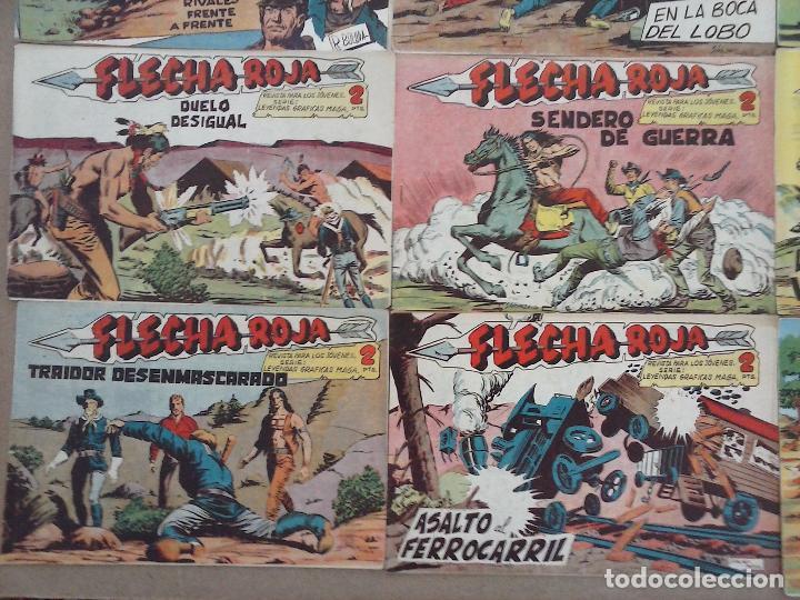 Tebeos: FLECHA ROJA ORIGINAL COMPLETA 1 AL 79 - 1962 MAGA - EXCELENTE ESTADO, VER PORTADAS - Foto 41 - 103978683