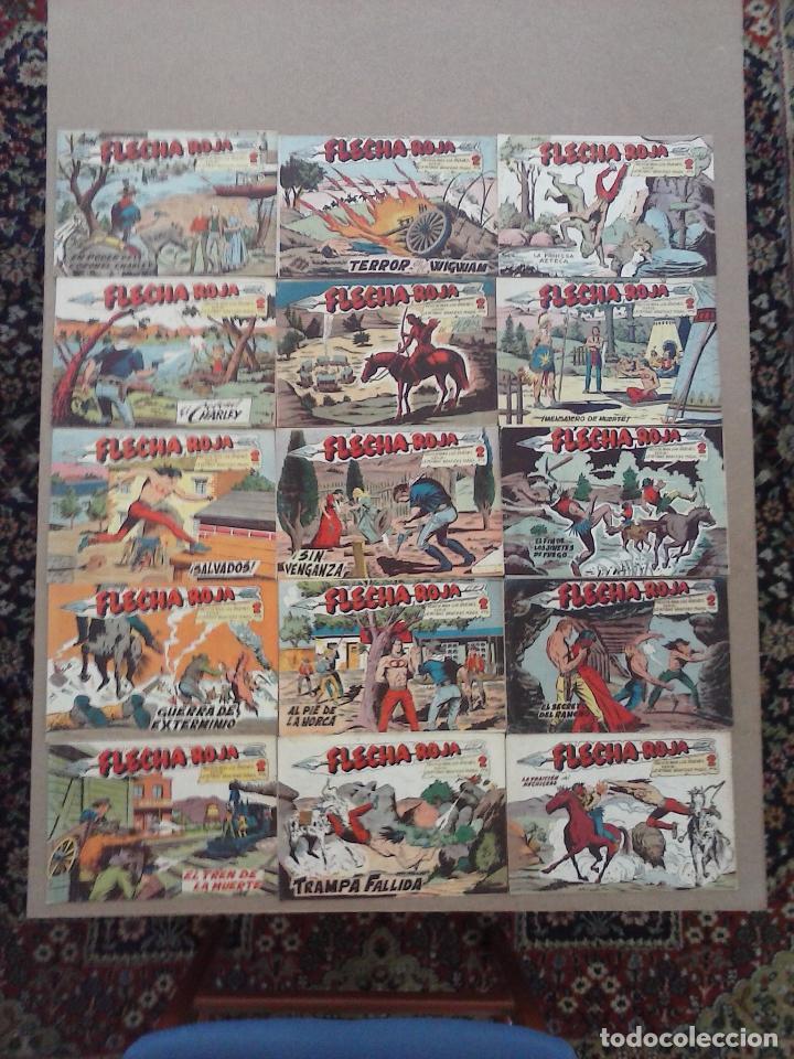 Tebeos: FLECHA ROJA ORIGINAL COMPLETA 1 AL 79 - 1962 MAGA - EXCELENTE ESTADO, VER PORTADAS - Foto 46 - 103978683