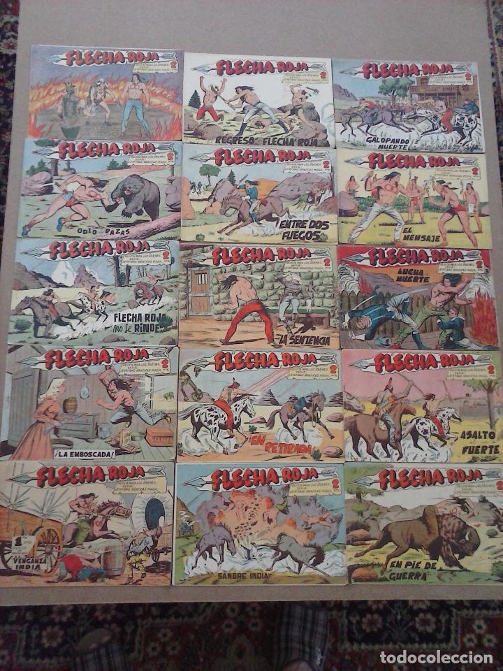 Tebeos: FLECHA ROJA ORIGINAL COMPLETA 1 AL 79 - 1962 MAGA - EXCELENTE ESTADO, VER PORTADAS - Foto 49 - 103978683