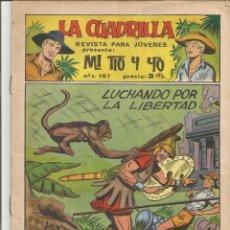 Tebeos: MI TIO Y YO SERIE LA CUADRILLA EDITORIAL MAGA Nº 16. Lote 104881231