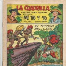 Tebeos: MI TIO Y YO SERIE LA CUADRILLA EDITORIAL MAGA Nº 19. Lote 104881375