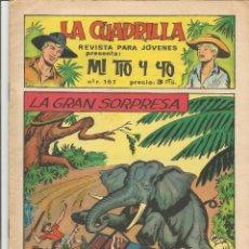 Tebeos: MI TIO Y YO SERIE LA CUADRILLA EDITORIAL MAGA Nº 43. Lote 104881927