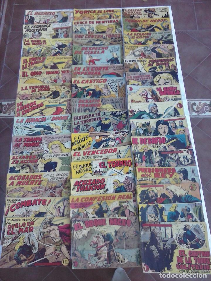 EL DUQUE NEGRO ORIGINAL COMPLETA 1 AL 42 MAGA 1958 - JOSÉ ORTIZ - MANUEL GAGO - VER PORTADAS (Tebeos y Comics - Maga - Otros)