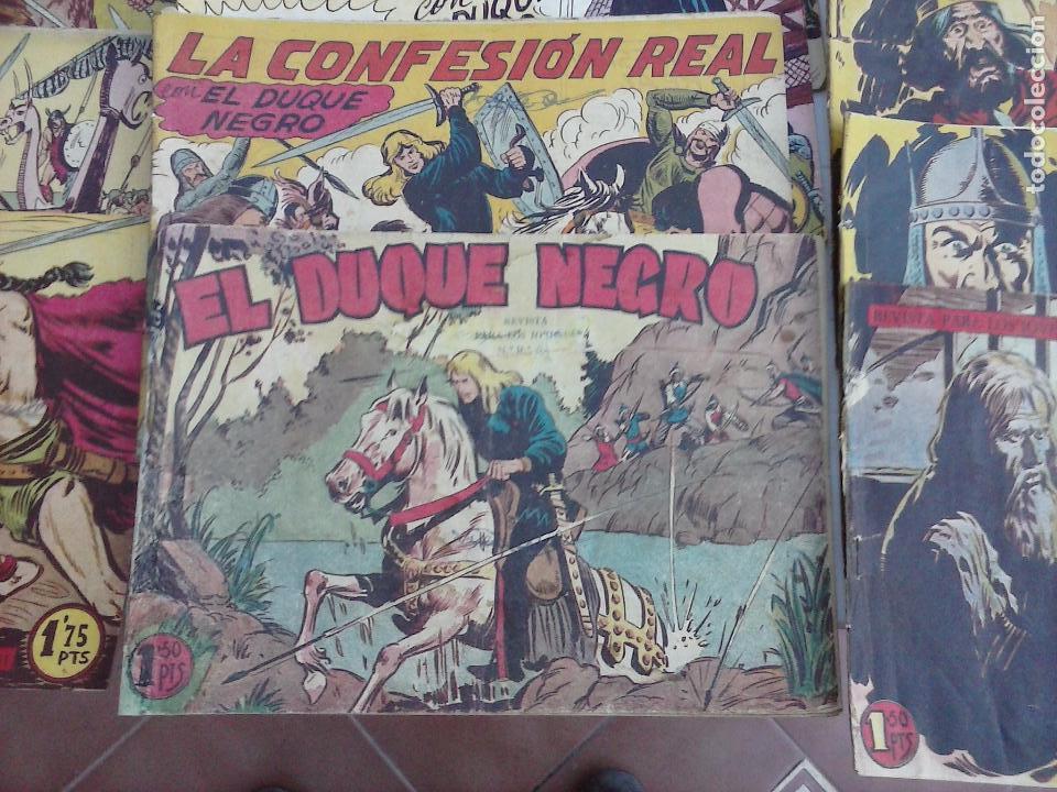 Tebeos: EL DUQUE NEGRO ORIGINAL COMPLETA 1 AL 42 MAGA 1958 - JOSÉ ORTIZ - MANUEL GAGO - VER PORTADAS - Foto 2 - 105055615