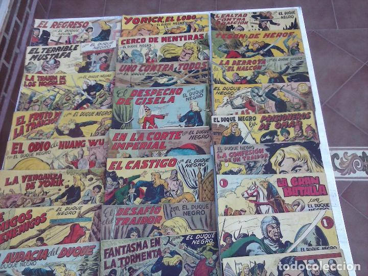 Tebeos: EL DUQUE NEGRO ORIGINAL COMPLETA 1 AL 42 MAGA 1958 - JOSÉ ORTIZ - MANUEL GAGO - VER PORTADAS - Foto 3 - 105055615