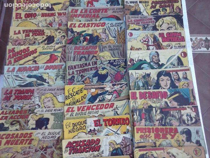 Tebeos: EL DUQUE NEGRO ORIGINAL COMPLETA 1 AL 42 MAGA 1958 - JOSÉ ORTIZ - MANUEL GAGO - VER PORTADAS - Foto 4 - 105055615