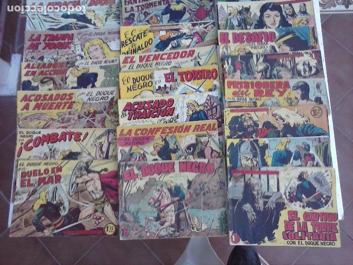 Tebeos: EL DUQUE NEGRO ORIGINAL COMPLETA 1 AL 42 MAGA 1958 - JOSÉ ORTIZ - MANUEL GAGO - VER PORTADAS - Foto 5 - 105055615