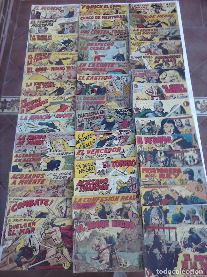 Tebeos: EL DUQUE NEGRO ORIGINAL COMPLETA 1 AL 42 MAGA 1958 - JOSÉ ORTIZ - MANUEL GAGO - VER PORTADAS - Foto 6 - 105055615
