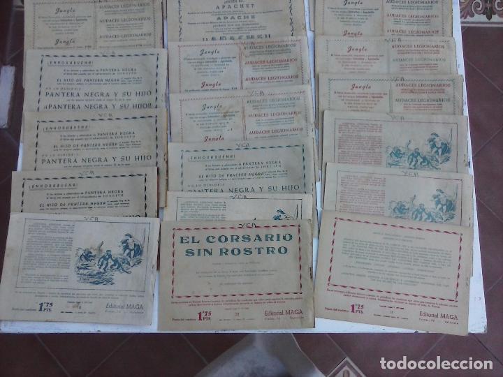 Tebeos: EL DUQUE NEGRO ORIGINAL COMPLETA 1 AL 42 MAGA 1958 - JOSÉ ORTIZ - MANUEL GAGO - VER PORTADAS - Foto 9 - 105055615