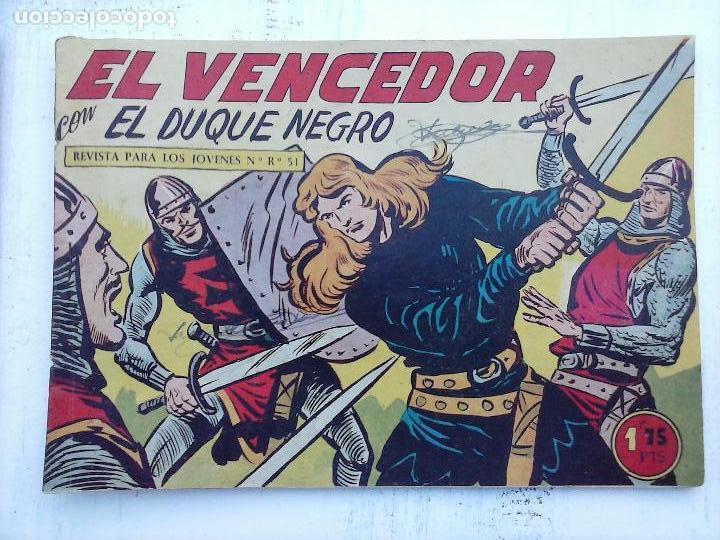 Tebeos: EL DUQUE NEGRO ORIGINAL COMPLETA 1 AL 42 MAGA 1958 - JOSÉ ORTIZ - MANUEL GAGO - VER PORTADAS - Foto 12 - 105055615
