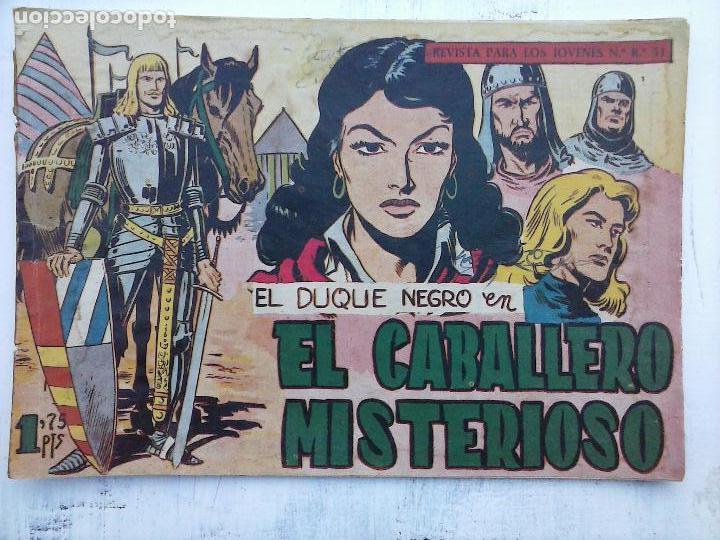 Tebeos: EL DUQUE NEGRO ORIGINAL COMPLETA 1 AL 42 MAGA 1958 - JOSÉ ORTIZ - MANUEL GAGO - VER PORTADAS - Foto 13 - 105055615