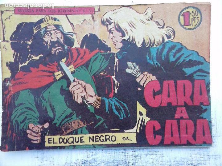 Tebeos: EL DUQUE NEGRO ORIGINAL COMPLETA 1 AL 42 MAGA 1958 - JOSÉ ORTIZ - MANUEL GAGO - VER PORTADAS - Foto 14 - 105055615