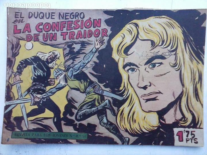Tebeos: EL DUQUE NEGRO ORIGINAL COMPLETA 1 AL 42 MAGA 1958 - JOSÉ ORTIZ - MANUEL GAGO - VER PORTADAS - Foto 15 - 105055615
