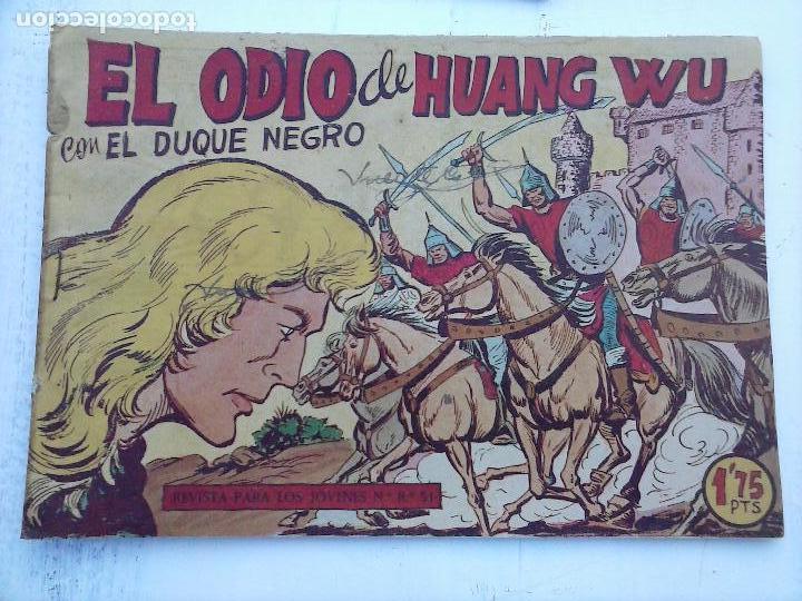 Tebeos: EL DUQUE NEGRO ORIGINAL COMPLETA 1 AL 42 MAGA 1958 - JOSÉ ORTIZ - MANUEL GAGO - VER PORTADAS - Foto 17 - 105055615