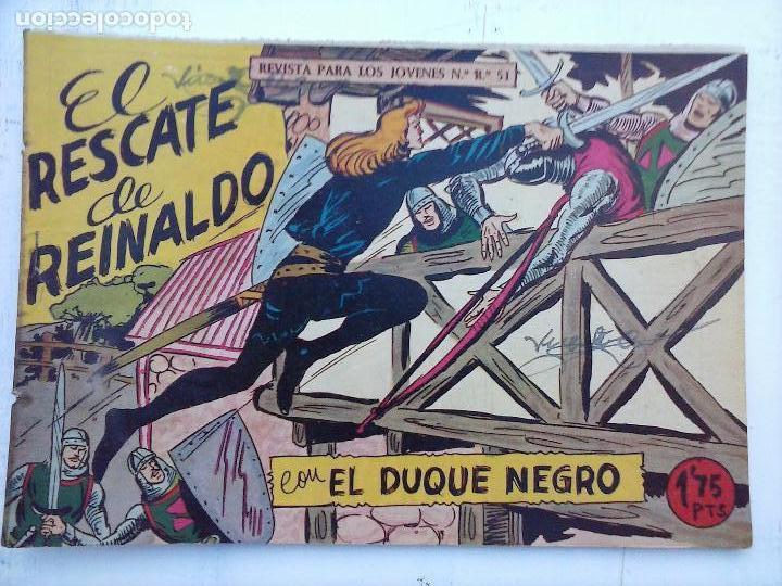 Tebeos: EL DUQUE NEGRO ORIGINAL COMPLETA 1 AL 42 MAGA 1958 - JOSÉ ORTIZ - MANUEL GAGO - VER PORTADAS - Foto 18 - 105055615