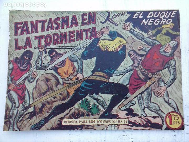 Tebeos: EL DUQUE NEGRO ORIGINAL COMPLETA 1 AL 42 MAGA 1958 - JOSÉ ORTIZ - MANUEL GAGO - VER PORTADAS - Foto 19 - 105055615