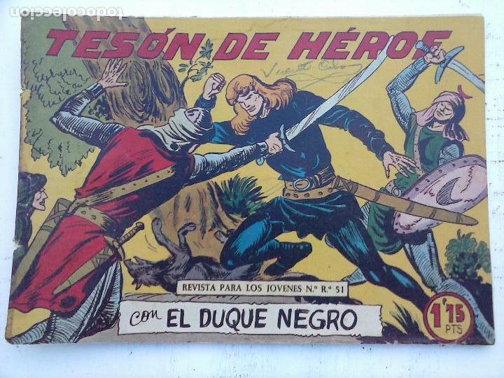 Tebeos: EL DUQUE NEGRO ORIGINAL COMPLETA 1 AL 42 MAGA 1958 - JOSÉ ORTIZ - MANUEL GAGO - VER PORTADAS - Foto 20 - 105055615