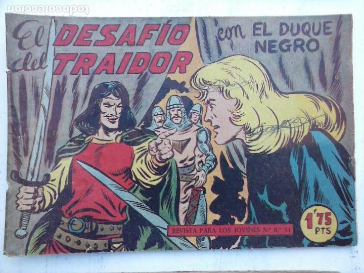 Tebeos: EL DUQUE NEGRO ORIGINAL COMPLETA 1 AL 42 MAGA 1958 - JOSÉ ORTIZ - MANUEL GAGO - VER PORTADAS - Foto 21 - 105055615
