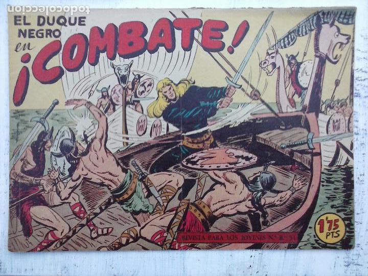 Tebeos: EL DUQUE NEGRO ORIGINAL COMPLETA 1 AL 42 MAGA 1958 - JOSÉ ORTIZ - MANUEL GAGO - VER PORTADAS - Foto 22 - 105055615