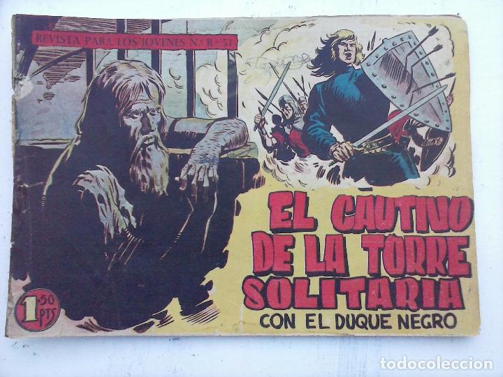 Tebeos: EL DUQUE NEGRO ORIGINAL COMPLETA 1 AL 42 MAGA 1958 - JOSÉ ORTIZ - MANUEL GAGO - VER PORTADAS - Foto 36 - 105055615