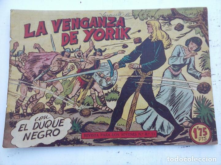 Tebeos: EL DUQUE NEGRO ORIGINAL COMPLETA 1 AL 42 MAGA 1958 - JOSÉ ORTIZ - MANUEL GAGO - VER PORTADAS - Foto 37 - 105055615