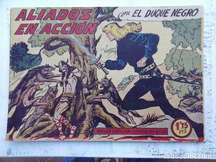 Tebeos: EL DUQUE NEGRO ORIGINAL COMPLETA 1 AL 42 MAGA 1958 - JOSÉ ORTIZ - MANUEL GAGO - VER PORTADAS - Foto 38 - 105055615