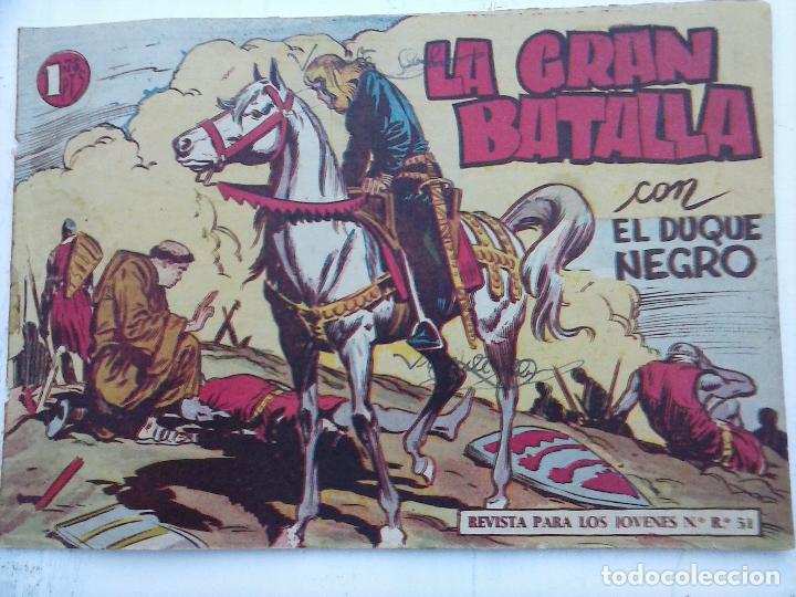Tebeos: EL DUQUE NEGRO ORIGINAL COMPLETA 1 AL 42 MAGA 1958 - JOSÉ ORTIZ - MANUEL GAGO - VER PORTADAS - Foto 42 - 105055615