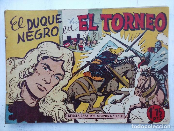 Tebeos: EL DUQUE NEGRO ORIGINAL COMPLETA 1 AL 42 MAGA 1958 - JOSÉ ORTIZ - MANUEL GAGO - VER PORTADAS - Foto 44 - 105055615