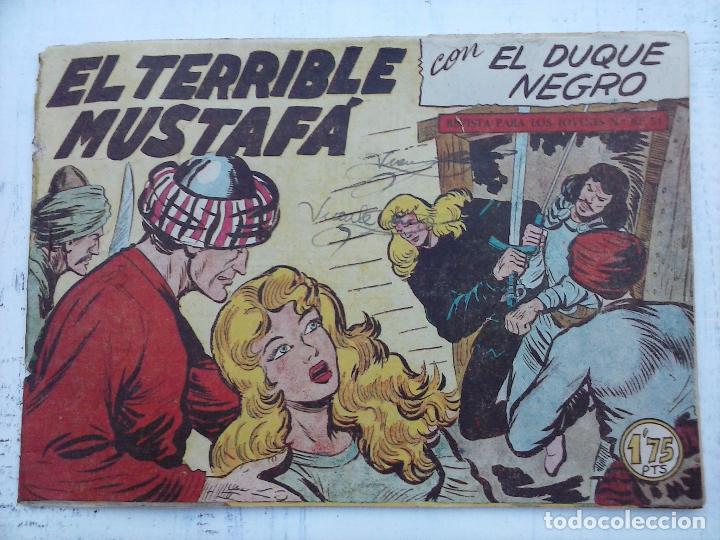 Tebeos: EL DUQUE NEGRO ORIGINAL COMPLETA 1 AL 42 MAGA 1958 - JOSÉ ORTIZ - MANUEL GAGO - VER PORTADAS - Foto 48 - 105055615