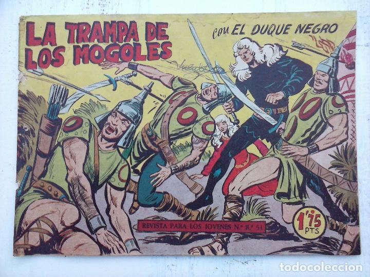 Tebeos: EL DUQUE NEGRO ORIGINAL COMPLETA 1 AL 42 MAGA 1958 - JOSÉ ORTIZ - MANUEL GAGO - VER PORTADAS - Foto 49 - 105055615