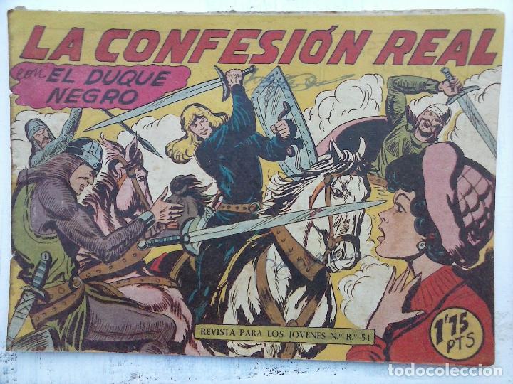 Tebeos: EL DUQUE NEGRO ORIGINAL COMPLETA 1 AL 42 MAGA 1958 - JOSÉ ORTIZ - MANUEL GAGO - VER PORTADAS - Foto 53 - 105055615