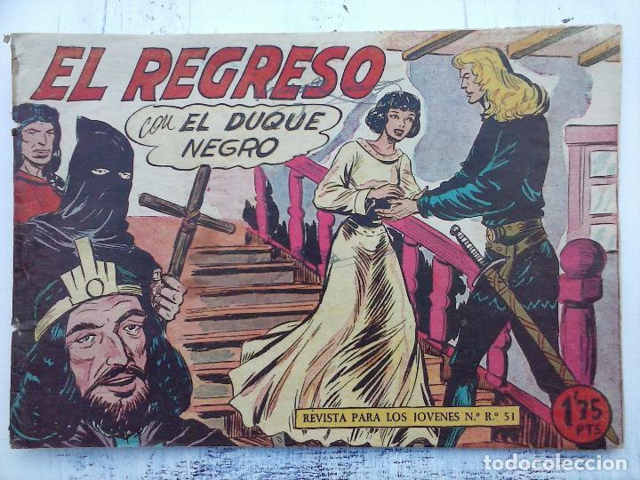 Tebeos: EL DUQUE NEGRO ORIGINAL COMPLETA 1 AL 42 MAGA 1958 - JOSÉ ORTIZ - MANUEL GAGO - VER PORTADAS - Foto 54 - 105055615