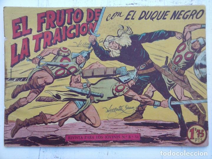 Tebeos: EL DUQUE NEGRO ORIGINAL COMPLETA 1 AL 42 MAGA 1958 - JOSÉ ORTIZ - MANUEL GAGO - VER PORTADAS - Foto 55 - 105055615