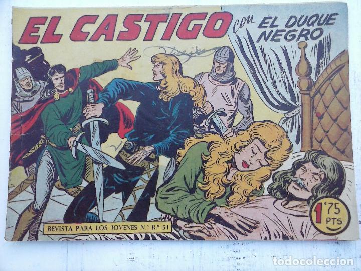 Tebeos: EL DUQUE NEGRO ORIGINAL COMPLETA 1 AL 42 MAGA 1958 - JOSÉ ORTIZ - MANUEL GAGO - VER PORTADAS - Foto 56 - 105055615