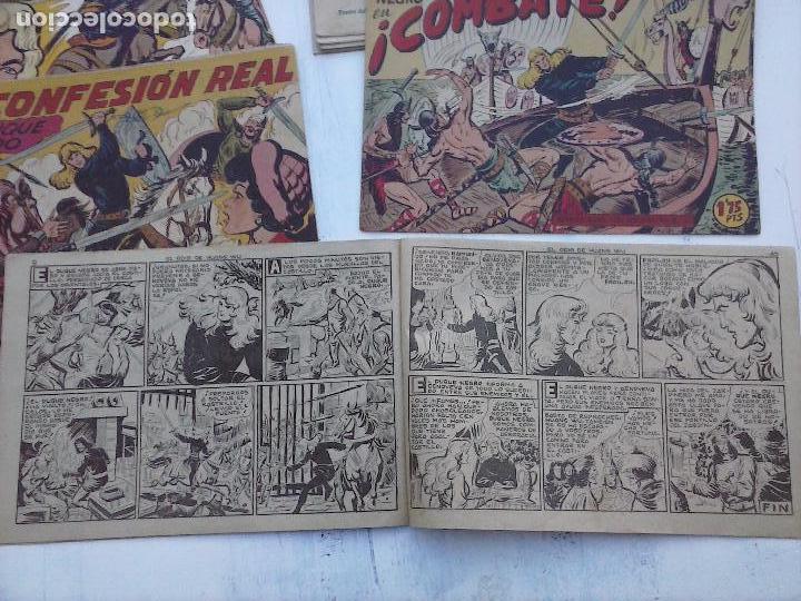 Tebeos: EL DUQUE NEGRO ORIGINAL COMPLETA 1 AL 42 MAGA 1958 - JOSÉ ORTIZ - MANUEL GAGO - VER PORTADAS - Foto 76 - 105055615