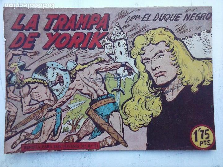Tebeos: EL DUQUE NEGRO ORIGINAL COMPLETA 1 AL 42 MAGA 1958 - JOSÉ ORTIZ - MANUEL GAGO - VER PORTADAS - Foto 80 - 105055615