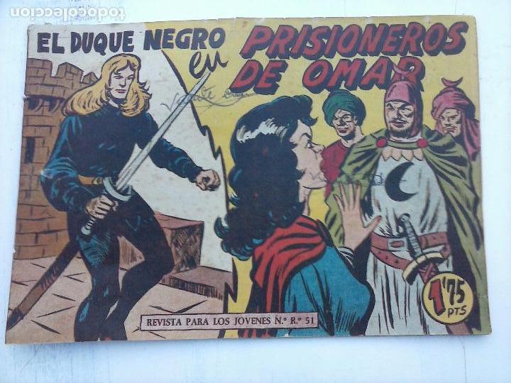 Tebeos: EL DUQUE NEGRO ORIGINAL COMPLETA 1 AL 42 MAGA 1958 - JOSÉ ORTIZ - MANUEL GAGO - VER PORTADAS - Foto 83 - 105055615