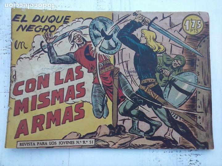 Tebeos: EL DUQUE NEGRO ORIGINAL COMPLETA 1 AL 42 MAGA 1958 - JOSÉ ORTIZ - MANUEL GAGO - VER PORTADAS - Foto 85 - 105055615