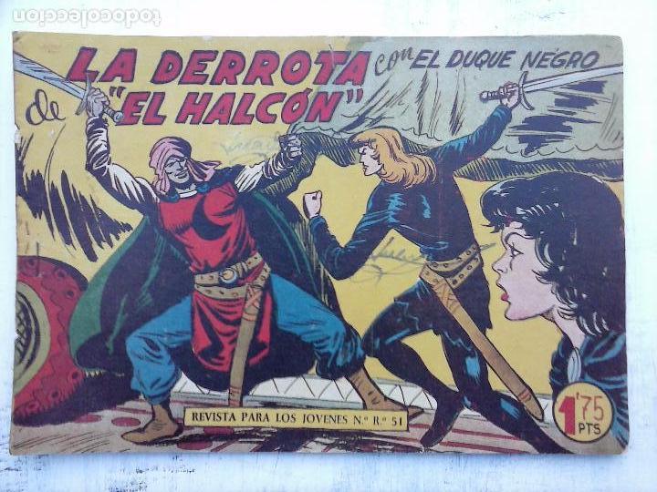 Tebeos: EL DUQUE NEGRO ORIGINAL COMPLETA 1 AL 42 MAGA 1958 - JOSÉ ORTIZ - MANUEL GAGO - VER PORTADAS - Foto 88 - 105055615