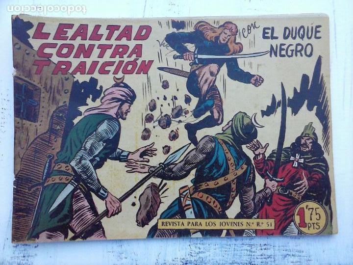 Tebeos: EL DUQUE NEGRO ORIGINAL COMPLETA 1 AL 42 MAGA 1958 - JOSÉ ORTIZ - MANUEL GAGO - VER PORTADAS - Foto 92 - 105055615