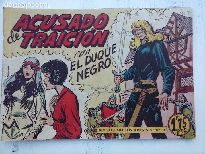 Tebeos: EL DUQUE NEGRO ORIGINAL COMPLETA 1 AL 42 MAGA 1958 - JOSÉ ORTIZ - MANUEL GAGO - VER PORTADAS - Foto 96 - 105055615