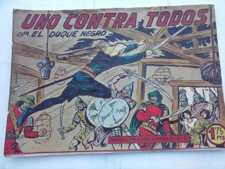 Tebeos: EL DUQUE NEGRO ORIGINAL COMPLETA 1 AL 42 MAGA 1958 - JOSÉ ORTIZ - MANUEL GAGO - VER PORTADAS - Foto 113 - 105055615