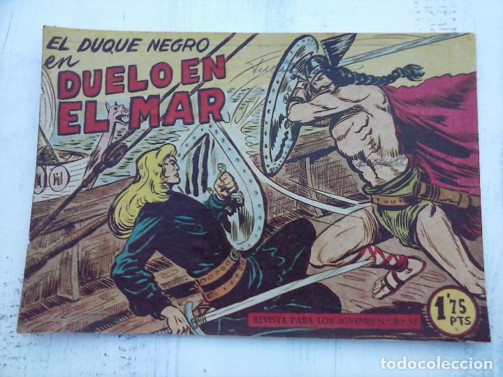 Tebeos: EL DUQUE NEGRO ORIGINAL COMPLETA 1 AL 42 MAGA 1958 - JOSÉ ORTIZ - MANUEL GAGO - VER PORTADAS - Foto 114 - 105055615